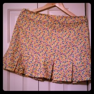 circa 1990s BETSY JOHNSON floral pleated skirt